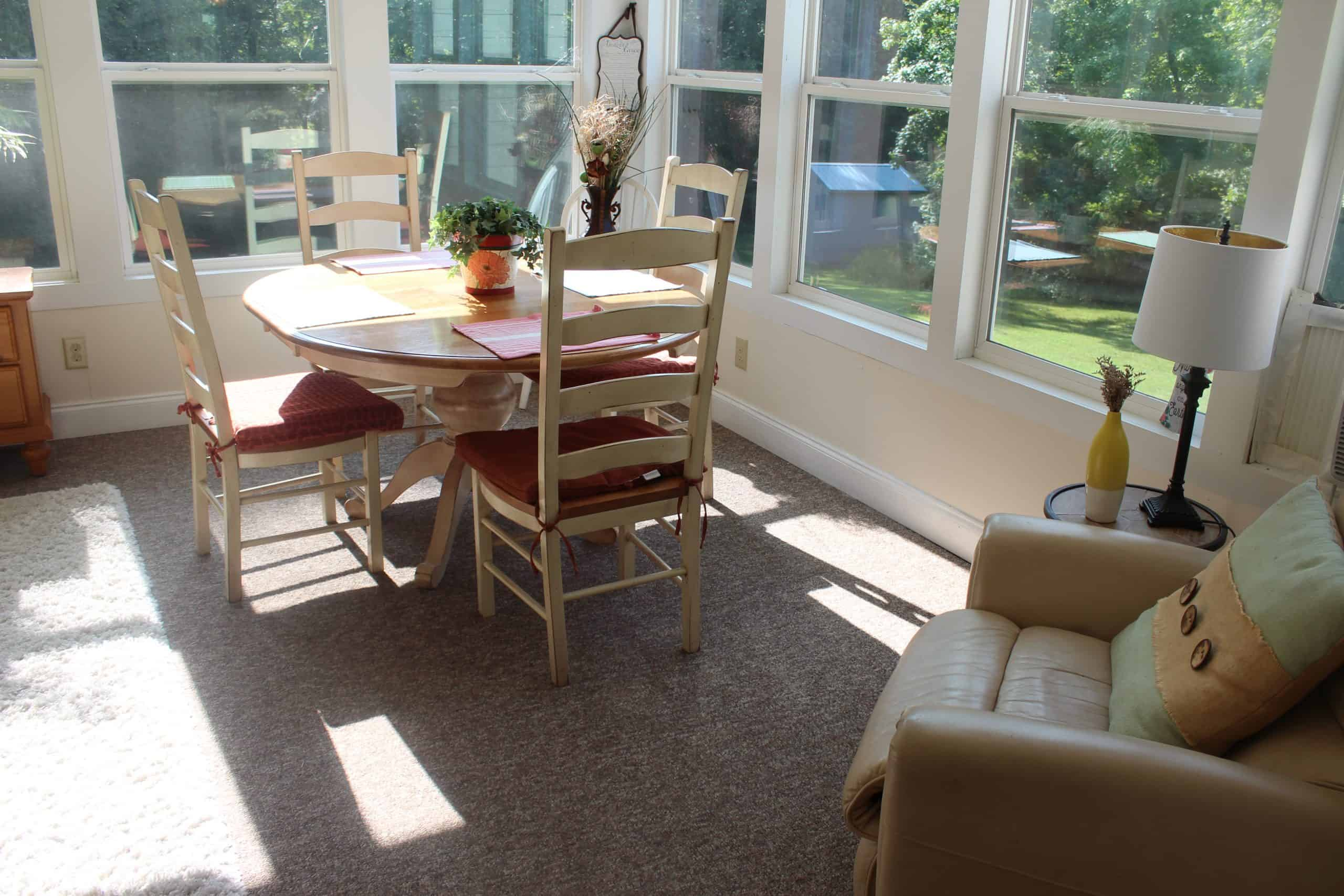 Sunroom Dining Area