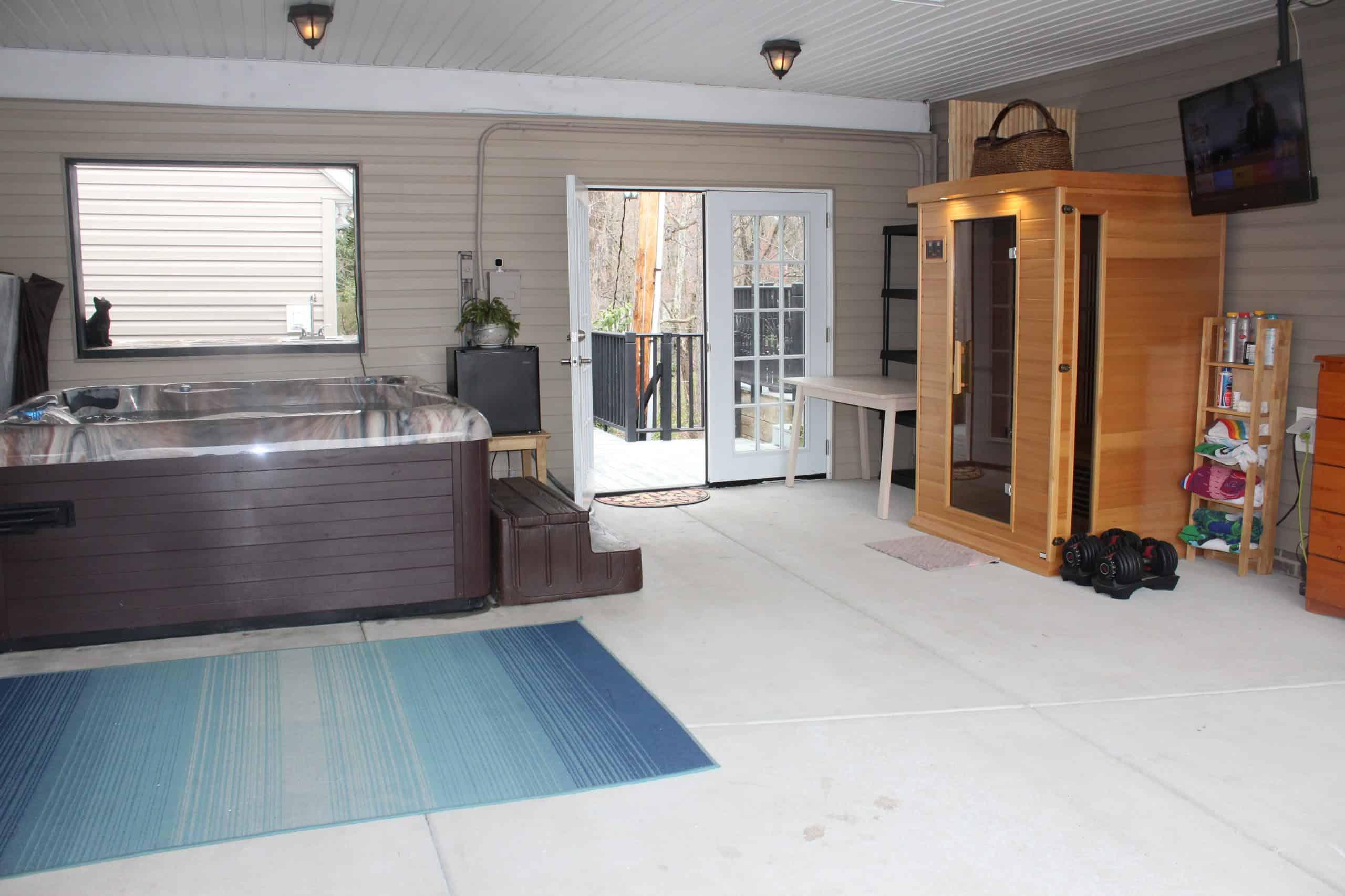 Hot Tub and Sauna - Garage
